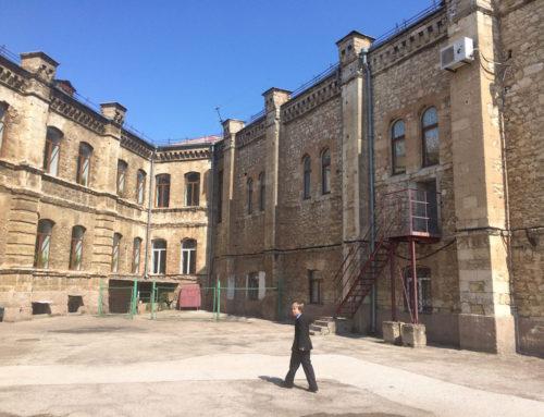 Испытание пожарных лестниц — школа г.Севастополь